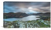 Yew Crag overlooking Ullswater, Canvas Print