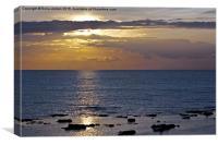 Calm Sunset at Westbrook,Kent., Canvas Print