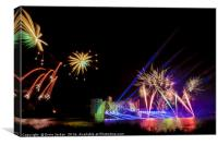 FIREWORKS 2014 at Leeds Castle. 3 of 5, Canvas Print