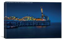 night pier , Canvas Print