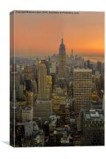 Top of the rock, Canvas Print