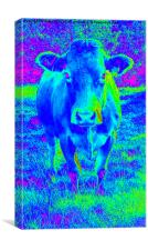 Blue Cow, Canvas Print
