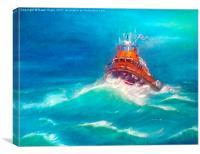 Mallaig Lifeboat., Canvas Print