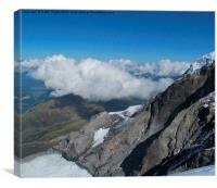 View from the Eiger, Switzerland., Canvas Print