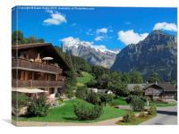 Switzerland, the Alps., Canvas Print