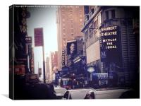 On Broadway, Canvas Print