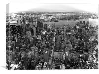 New York from Above, Canvas Print