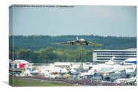 The Vulcan takes off for it's final display at Fa, Canvas Print