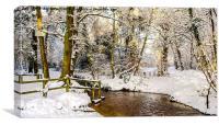 Snowy winter glade, Canvas Print