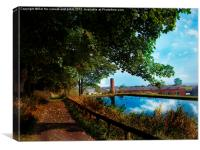 old factory pond, Canvas Print