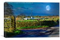 farm and turbine, Canvas Print