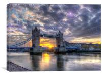 Tower bridge of london, Canvas Print