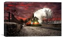 The flying scotsman locomotive, Canvas Print