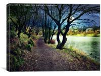 Lakeside walk, Canvas Print
