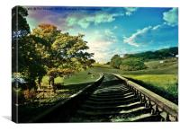 Countryside railway, Canvas Print