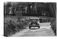 Morris Minor car, Canvas Print