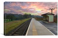 Burrs Station At Bury Lancs, Canvas Print