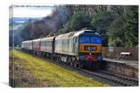 D1501 train at irwell vale, Canvas Print
