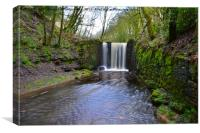 Waterfall in ramsbottom, Canvas Print