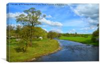 River Ribble at paythorne, Canvas Print