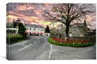 Parkers arms Newton in bowland, Canvas Print