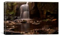 Lumsdale Falls, Canvas Print