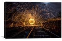 orb on the tracks , Canvas Print