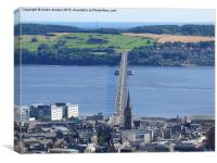 tay road bridge Dundee in colour