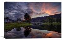 Taymouth, this is where Loch Tay becomes River Tay, Canvas Print
