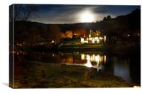 Moon over Kenmore, Canvas Print
