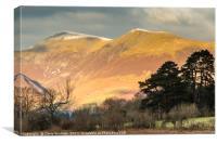 Skiddaw in autumn, Canvas Print