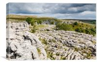 Malham Cove in the Yorkshore Dales National Park, Canvas Print