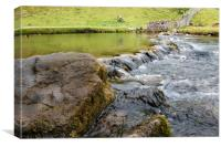 Dovedale waterfall in the Peak District , Canvas Print