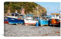 Cadgwith Cove fishing boats , Canvas Print