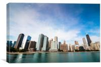 Chicago skyline from Lake Michigan, Canvas Print