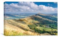 Peak District - The Great Ridge at Castleton, Canvas Print