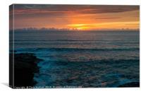 Sunset at Polzeath Cornwall, Canvas Print