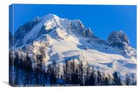 Grand Montets in the French Alps, Canvas Print