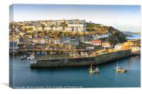Mevagissey Harbour in evening sunshine, Canvas Print