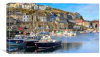 Evening in Mevagissey Harbour, Canvas Print