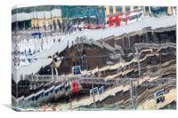 Birmingham New Street - Reflections of life, Canvas Print