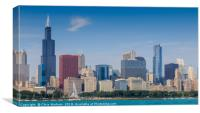 Chicago cityscape, Canvas Print