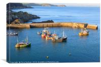 Mevagissey outer harbour, Canvas Print