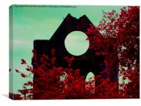Red Abbey, Canvas Print