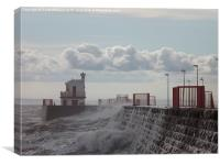 Stormy Harbour, Canvas Print