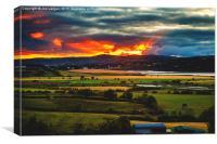 Fiery sunset, Canvas Print