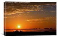 Dawn  Mists at Stonehenge, Canvas Print