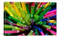 Straw Burst, Canvas Print