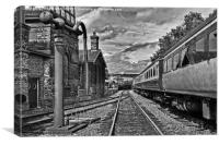 Trackside, Canvas Print