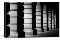 Columns in shadow, Canvas Print